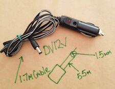 12V In Car Lighter Plug with 5.5mm Jack with Fuse Caravan or Camper 12V TV Plug
