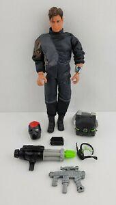 "1999 Mattel Max Steel 12"" Action Figure Night Combat Weapons Arm & Eye Lights"