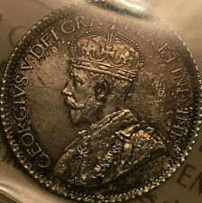 1913 CANADA SILVER 10 CENTS - Small leaves - ICCS AU-58 - Close to Uncirculated