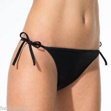 La Redoute sexy BLACK low waist side tie bikini bottoms swim briefs UK 4 EU 34