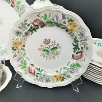 "Set of 6 ONLY ROYAL DOULTON STRATFORD Floral Scalloped 8 1/2"" Salad Plates"