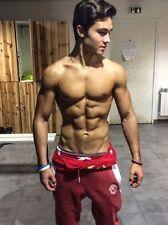 Shirtless Male Muscular Beefcake Hunk Athletic Jock Abs Dude PHOTO 4X6 C1349
