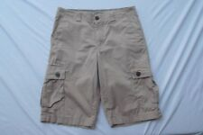 Urban Pipeline cargo longer length 32 button pocket lightweight khaki shorts