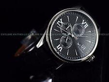 Invicta S.Coifman Men Complete Calendar Blk Dial SWISS GMT Italian Leather Watch