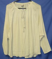 """Cotton On Ladies Blowse Top Open Womans 50"""" Size XS Light Weight Tie Neck Cream"""