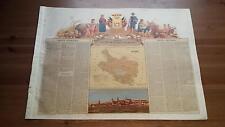 1875 MAPA Provincia de Alava Dedicado Marques de Urquijo Cromo Boronat y Satorre