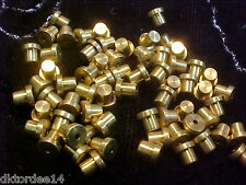 Vtg 100 STEAM PUNK BRASS STUDS (HOLE ONE END ONLY) 4mm to die for! #040514f