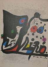 JOAN MIRÓ Livres Illustrés - Ausstellungskatalog 1973 - Lithographies en couleur