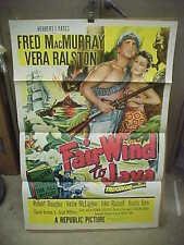 FAIR WIND TO JAVA, orig tri-fold 1-sht (Fred MacMurray, Vera Ralston)
