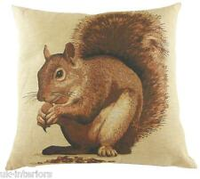 "18"" RED SQUIRREL Woven Belgian Tapestry Cushion British Wildlife LC487"