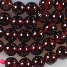 "10mm Sri Lanka Red Garnet Round Gemstone Loose Bead 15"""