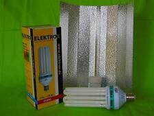 Elektrox Sparset 125 W Dual Energiesparlampe + Reflektor ESL Set 2100K Wuchs Blü