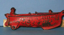 SPEED BOAT TOY CAST IRON W/ MAN ALL ORIG RED, AUTHENTIC OLD * NOW ON SALE, CI163