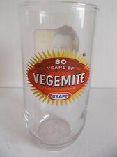 KRAFT VEGEMITE GLASS TUMBLER CELEBRATING 80 YEARS (1923 - 2003)