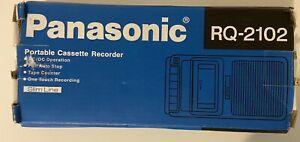 Panasonic Portable Cassette Recorder RQ-2102, Slim Line, Brand New Vintage, BNIP