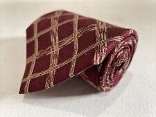 Calvin Klein Men's Red Plaid Silk Neck Tie $78