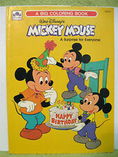 MICKEY MOUSE Vtg Coloring Book 1978 BIRTHDAY SURPRISE Minnie DAISY DUCK Goofy