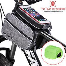 MTB Mountain Bike Frame Waterproof Front Bags Pannier Hiking Mobile Phone Holder