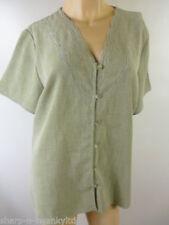 Maglie e camicie da donna bluse verdi poliestere