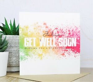 Personalised Handmade Get Well Soon Card
