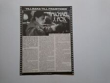 Michael J Fox Back to The Future cutting clipping Sweden Swedish 1980s