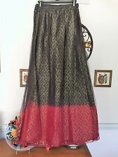 Exquisite Hand Beaded & Sequin Red Gold Black Indian Style Dress 2 Piece