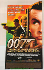 JAMES BOND RARE 1990's  Standee SEAN CONNERY ROGER MOORE MOVIE POSTER Like ART