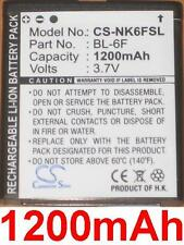 Battery 1200mAh type BL-6F N6F10T For Nokia N95 8GB