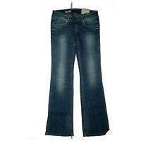PEPE JEANS Pimlico Damen Stretch Hose Bootcut Flared Schlag 28/32 W28 L32 Blau