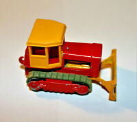 Vintage DieCast Toy Lesney Matchbox 16 Case Tractor dozer original cab & tread