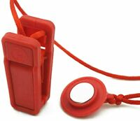 Universal Magnetic Treadmill Safety Key Security Lock Fit Magnet Red Corded Clip