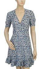 159184 Denim & Supply Ralph Lauren Floral Printed Cotton Wrap Coverup Dress S US