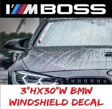 BMW Performance I'M BOSS Sport Windshield Decal windows sticker graphic i8, m5