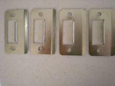 4 X WESCO fastec S8602BSN Extended Strike Plate Satin Nickel Door Lock Striker