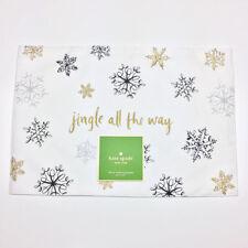 Kate Spade New York Christmas Snowflakes Jingle All The Way Placemats Set of 4