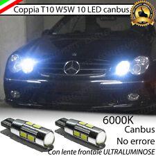 COPPIA LUCI POSIZIONE 10 LED PER MERCEDES CLK W209 T10 W5W CANBUS NO ERRORE