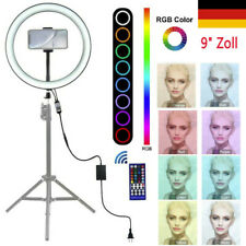 Ring Light 9 Inch With Phone Stand Cradle Head 8 Light Modes RGB LED Light Video