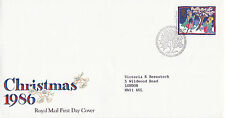 2 DECEMBER 1986 12p DISCOUNT CHRISMAS ROYAL MAIL FIRST DAY COVER BUREAU SHS (x)
