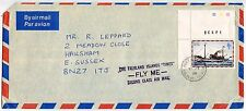 FALKLAND ISLANDS TIMES FLY ME SECOND CLASS AIR MAIL HS 1978 MAIL SHIP FLEURUS