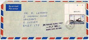 FALKLAND ISLANDS TIMES FLY ME SECOND CLASS AIR MAIL HS 1978 MAIL SHIP FLEURUS