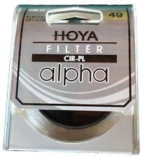 Hoya 49mm ALPHA Circular Polarizer CPL CRPL Cir-PL Glass Filter
