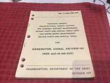 Tm 11-6625-586-24P Manual Signal Generator An/Urm-103