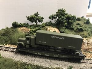 SET OF 6 COX HO SCALE US ARMY MILITARY MODEL TRAIN Runs no Boxes