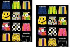 Lot of 2 Joe Boxer Pocket Folders Portfolio School Supplies 3 Holes Underwear