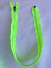 New Original YKK 63cm Nylon Dress/Jacket Zip Fluorescent Lime Open End Size 5