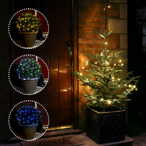 5m/10m/20m Battery Power Outdoor Christmas LED Fairy String Wire Lights w/ Timer