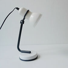 lampe de bureau en métal blanc vintage années 70 design 1970 Space Age Pop