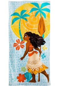 NEW Disney Store Moana Soft Terry Cloth Large Swim Beach Towel for Kids