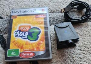 EyeToy Sony PlayStation 2 PS2 Eye Toy Camera USB with EyeToy Play Game 3 Game