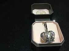 NIB Juicy Couture New Genuine Silver & Diamanté Pearl Crown Charm Boxed YJRU2481